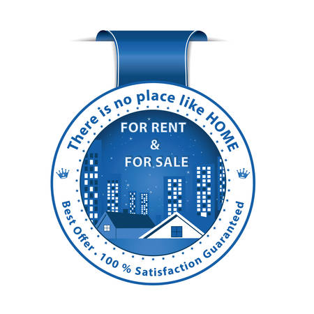 home ownership: For rent and For sale blue ribbon. Real Estate Agency image. Best Offer. 100 Satisfaction Guaranteed.
