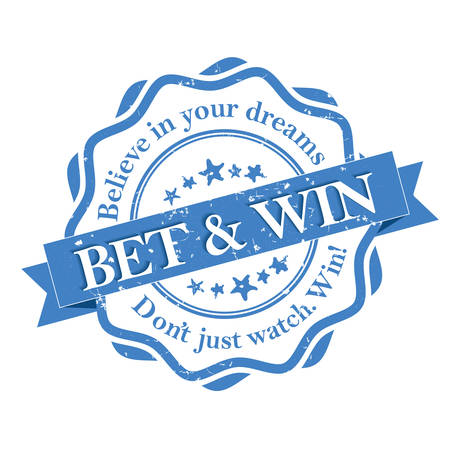 odds: Betting Odds blue grunge label. Sports betting odds. Bet and win. Believe in your dreams. - blue stamp