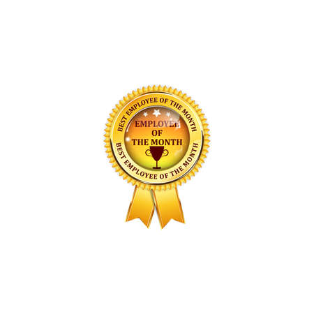 Employee of the month - elegant golden black award ribbon Stock Photo