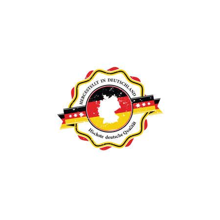 Hergestellt in Deutchland, h�chste deutsche qualit�t - Etikett