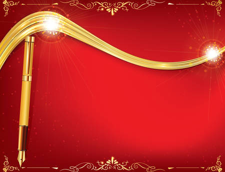 any size: Red celebration background for any occasion: winter holidays, wedding invitations, post cards. Print colors used. Greeting card custom size. Copy space for your own text. Illustration