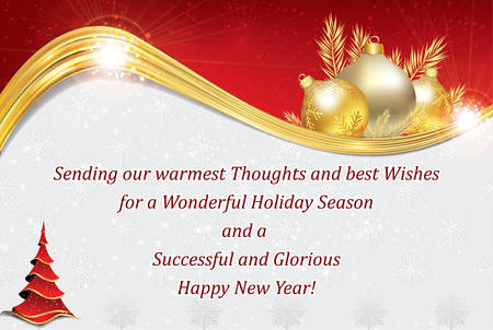 business new year greeting card for customers clients business partners and employees copy - Christmas Cards For Clients