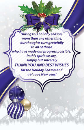 Thank you business christmas and new year greeting card for stock photo thank you business christmas and new year greeting card for companies print colors used size of a custom greeting card reheart Choice Image