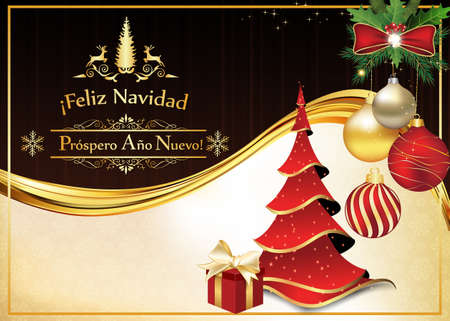 Greeting card for christmas and new year containing wishes in greeting card for christmas and new year containing wishes in spanish language feliz navidad y m4hsunfo