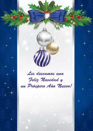 greeting card for new year in spanish les deseamos feliz navidad y feliz ano nuevo - Merry Christmas And Happy New Year In Spanish