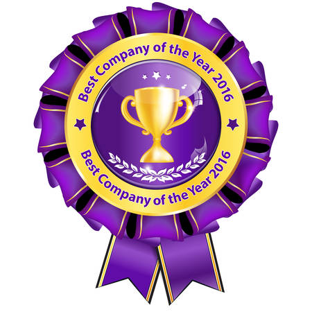 employers: Best Company of the year 2016 - award ribbon for companies. Illustration