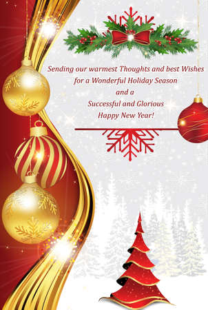 Business greeting card for christmas and new year contains a business greeting card for christmas and new year contains a thank you message from company m4hsunfo