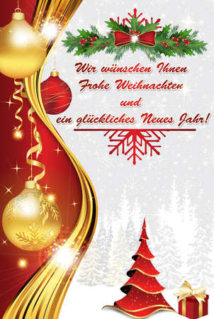 business german we wish you merry christmas and happy new year greeting card wir wunschen - We Wish You Merry Christmas