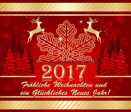 German greeting card merry christmas and happy new year froliche 66194004 german christmas new year 2017 greeting card merry christmas and happy new year german frohliche weihnachten und ein gluckliches neues jahr m4hsunfo