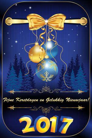 Frohe Weihnachten Und Ein Gutes Neues Jahr Holländisch.Wir Wünschen Ihnen Frohe Weihnachten Und Happy New Year