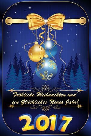 merry christmas happy new year in german