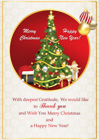 Thank you business greeting card for christmas and new year stock stock photo thank you business greeting card for christmas and new year contains a thank you message from company to its stuff and clients m4hsunfo