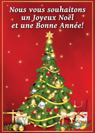 Ich Wünsche Dir Frohe Weihnachten Französisch.Nous Vous Souhaitons Un Joyeux Noel Et Une Bonne Année