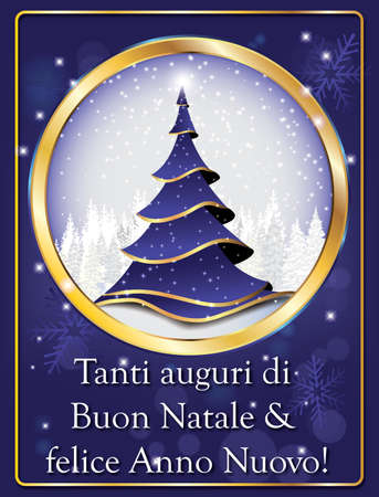 66683951 italian lovely greeting card for winter holiday merry christmas and happy new year tanti auguri di buon natale felice anno nuovo
