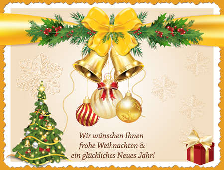 german greeting card for christmas and new year merry christmas and happy new year