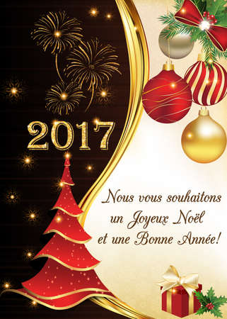 French greeting card for winter holiday merry christmas and stock french greeting card for winter holiday merry christmas and happy new year joyeux noel m4hsunfo