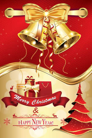 Elegant red merry christmas and happy new year greeting card stock elegant red merry christmas and happy new year greeting card for friends family and business m4hsunfo