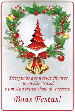 Merry christmas and happy new year portuguese seasons greetings corporate portuguese winter holiday season greeting card with business message for clients we wish all m4hsunfo
