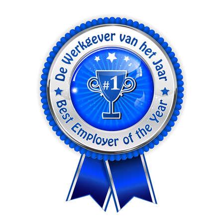distinction: Best employer of the year (Dutch award  distinction for business purposes: De Werkgever van het jaar) - Recognition gifts & appreciation gifts Stock Photo