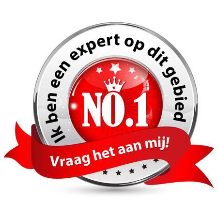 Im an expert in this domain. Ask me (Dutch language: Ik ben een expert op dit gebied. Vraag het aan mij!) - Dutch icon  ribbon for business  consultancy companies