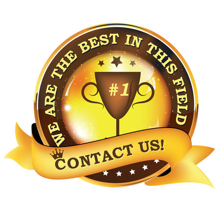 We are the best in this field. Contact us! - shiny business  consultancy icon  label Illustration