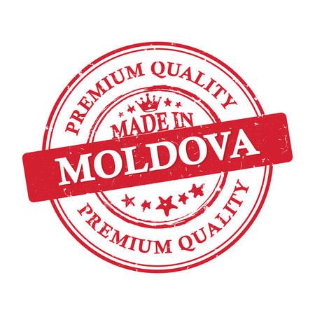 moldova: Made in Moldova, Premium Quality printable grunge label  stamp. Print colors (CMYK) used
