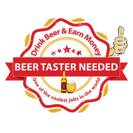 now hiring: We are hiring Beer Taster. Job openings. Drink beer and earn money - printable business label  stamp for job vacancies