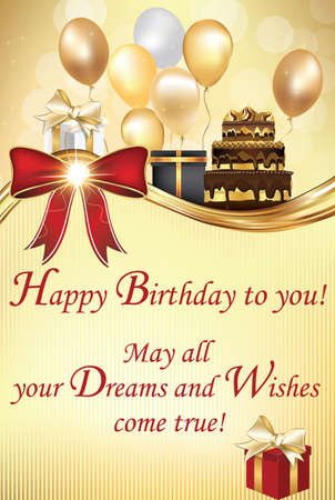 Birthday greeting card may all your dreams and wishes come stock birthday greeting card may all your dreams and wishes come true happy birthday to m4hsunfo