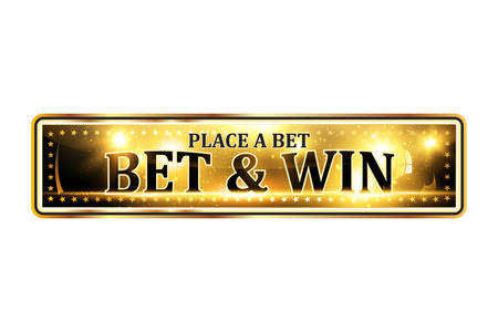 Bet and win. Place a bet - luxurious elegant icon  ribbon for gambling businesses.
