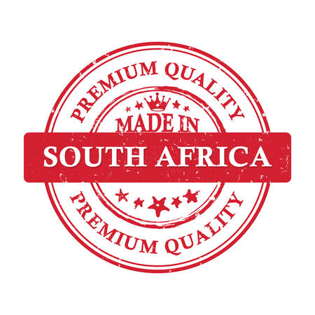 Made in South Africa. Premium quality - grunge printable stamp, label and sign. Print colors used