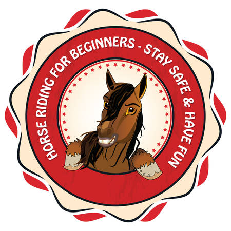 Horse and pony riding for beginners. Stay safe and have fun - Equestrian sport advertising for riding centers