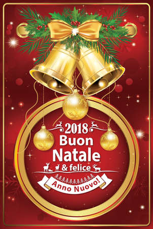 Merry christmas and a happy new year italian greeting card stock merry christmas and a happy new year italian greeting card for christmas and new year m4hsunfo