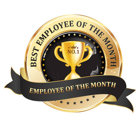 Best employee of the month - elegant badge designed for companies