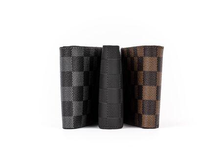 men's patterned leather wallet, money wallet, credit card holder