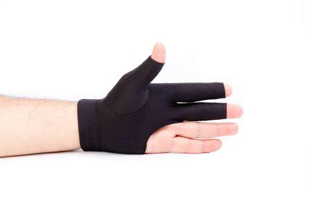 billiard gloves male hand worn