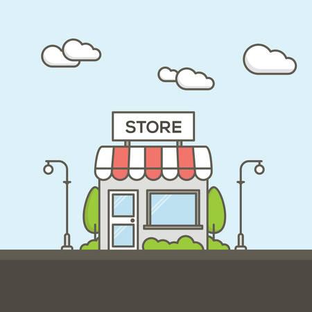 Flat Vector Shop Illustration