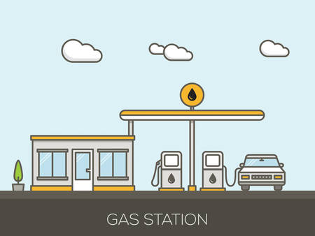 fill up: Gas Station