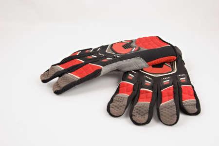 supercross: Pair of Motocross Gloves on a white background