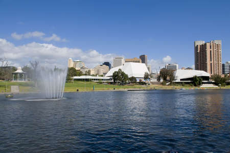 View of Adelaide skyline from northern side of river torrens Stock Photo - 3729652