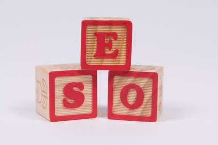 optimisation: Wooden Alphabet Blocks spelling SEO the commonly used abbreviation of search engine optimisation
