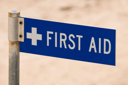 first aid sign: Royalty free stock photo of a first aid sign Stock Photo