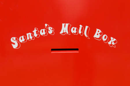Mial box for children to send their christmas letters to santa photo
