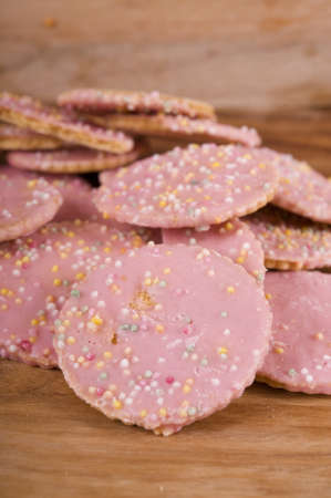 hundreds and thousands: Cookies sprinkled with hundreds and thousands