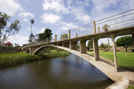 rural town: Footbridge in the centre of the rural town of Strathalbyn Stock Photo