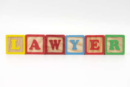 The word Lawyer made with Wooden alphabet blocks Stock Photo - 11055997