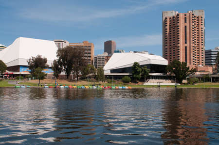 adelaide: Adelaide Skyline from the northern side of the river torrens Stock Photo