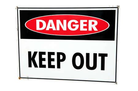 Danger sign on white background