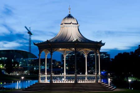 The Elder Park rotunda at night dusk photo