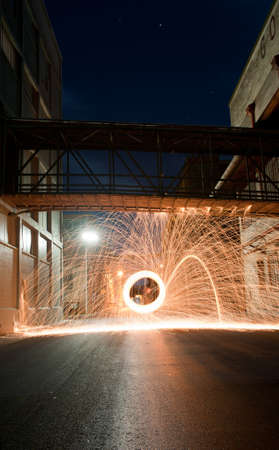 Light Painting in Port Adelaide, South Australia photo