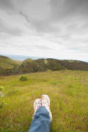 backstairs: Ammirando il panorama dalla penisola fleurieu attraverso a Kangaroo Island, South Australia